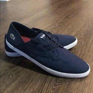 Lacoste Andover CI Navy Blue Canvas Shoes